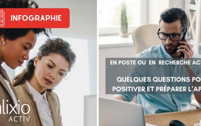 En poste ou en recherche d'emploi : quelques questions pour positiver et préparer l'après.